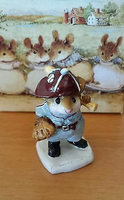 Wee Forest Folk, MS-15  Joe Di'Mousio/Batter Up!  Gray/Maroon Mint