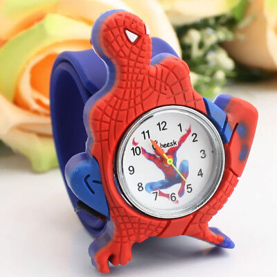 Spider Man Watch Children Kids Boys Spider Man Sport Silicon Analog Wrist Watch