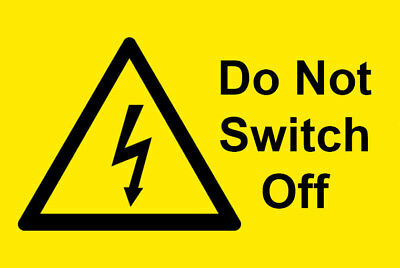 50 x Main Switch electrical warning Labels / Stickers. 76mm x 51mm. Free UK P&P