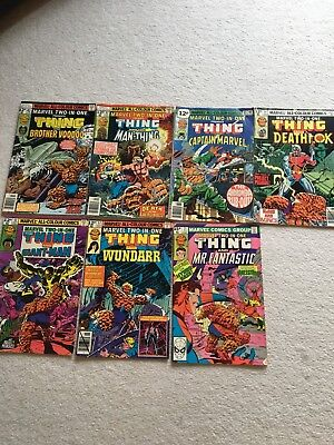 7 x Marvel 2 in 1 series The Thing, (Used)