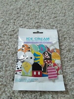 1 Ice Cream Collectible pin pack Disney Mystery Booster 2018 dsf ptd wdi d23