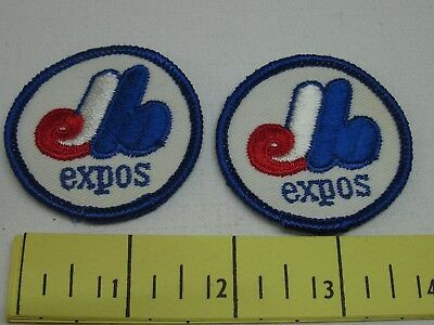 Two Vintage Expos Patches 2 inch 1970's New Old Stock