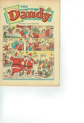 (Christmas) Dandy Comic From 1965 No 1257 (Great Cover)