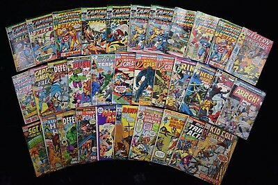 1970s Captain America Marvel Comic Books Lot Wonder Women Kid Colt (33)