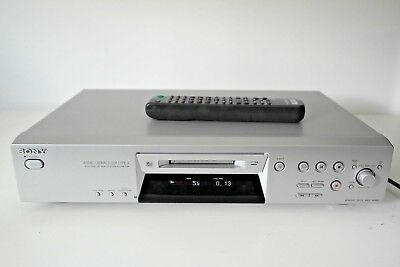 Sony MDS-JE480 Mini Disc Player/Recorder. Silver. Audiophile Mini Disc Recorder.