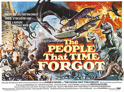The People That Time Forgot - Doug McClure - A4 Laminated Mini Movie Poster