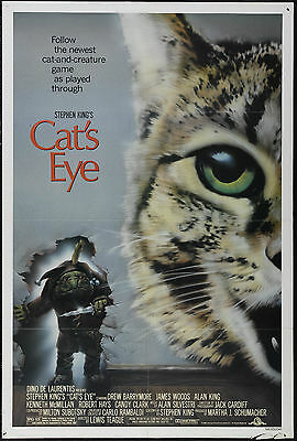 Cat's Eye - Stephen King - Drew Barrymore - A4 Laminated Mini Movie Poster