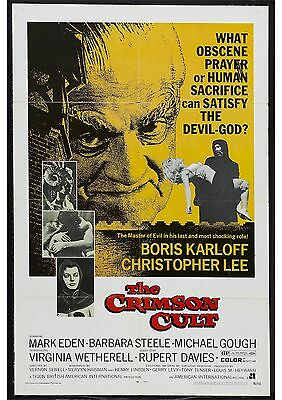 Curse of the Crimson Altar - Boris Karloff - A4 Laminated Mini Movie Poster