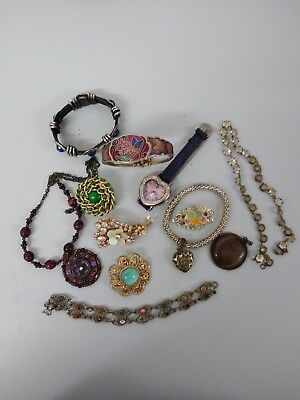 Job Lot Of Vintage Costume Jewellery A Bit of everything .
