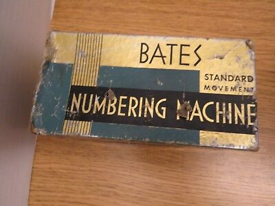 Vintage Bates Numbering Machine Stamp, 6 Wheels / E Style
