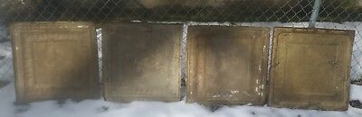 4 Antique 24x24 ceiling tin tile. Vintage ceiling tile. buy all or seperate