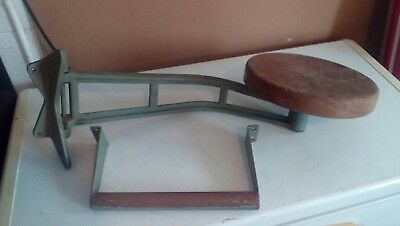 Vintage indstrail swing out workbench seat with foot rest