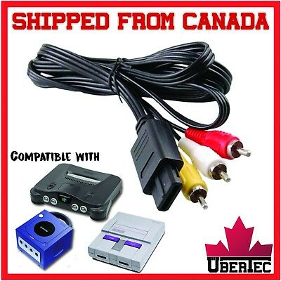 RCA Cable For Super NES SNES, Nintendo GameCube, N64 Nintendo 64, AV composite
