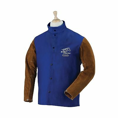 Revco FRB9-30C/BS-L Black Stallion Hybrid Fr and Cowhide Welding Coat, 9 oz, ...