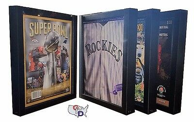 UV Protecting Lot of 4 Sports Program Magazine Display Frame Extra Deep GameDay