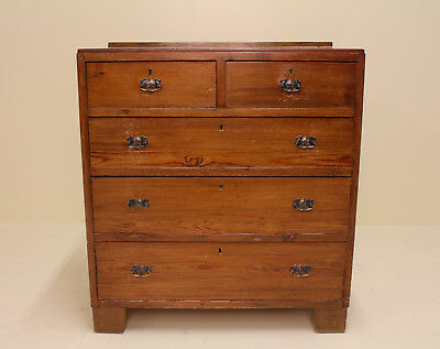Antique Chest of Drawers Edwardian Pine Chest