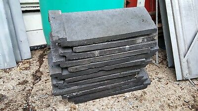 12 x Architectual antique blue angle ridge tiles. Very good condition