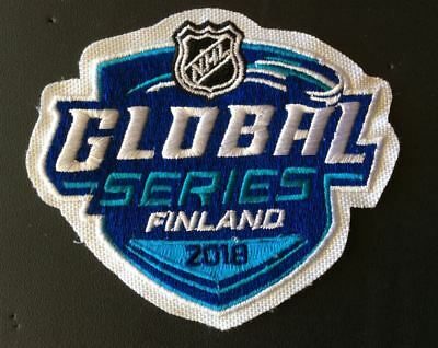 Nhl Global Series Finland Jersey Patch 2018 Florida Panthers Vs. Jets Puck Style