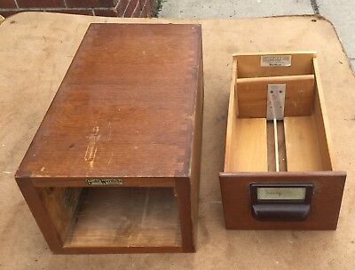 Globe Wernicke Drawer Stacking Library Card File Cabinet Oak U S Army/air Force