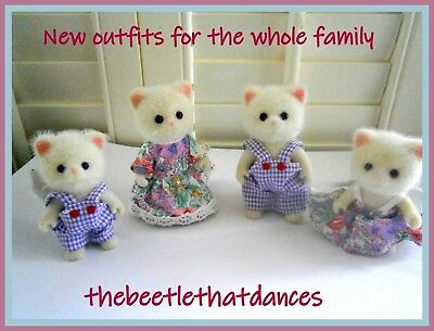 Sylvanian Families Clothes,New Ditsy Outfits for the family,Rabbits,Cats, ETC