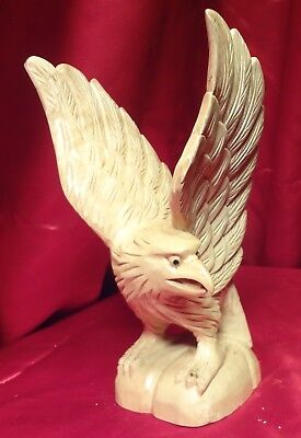Carved wood spread eagle