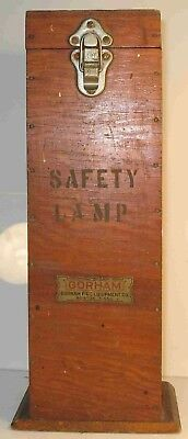 Coal Miners Safety Lamp Wood Wooden BOX ONLY