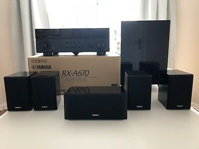 YAMAHA RX-A670 7 2-CHANNEL home cinema system and Tannoy HTS surround  speakers