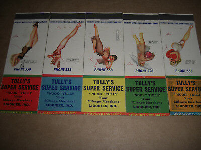 Tully's CONOCO Super Service Station Matchbook Covers Set of 5