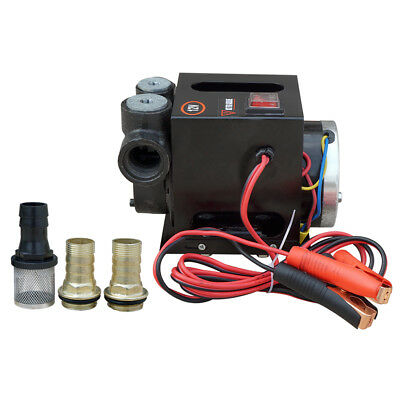 12V 750W Diesel Transfer Pump Heavy Duty Fuel Oil Rated 70L/Min Continuous 3/4HP