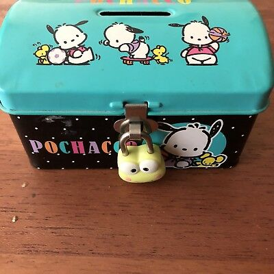 Sanrio Pochacco Metal Tin Coin Bank with Lock
