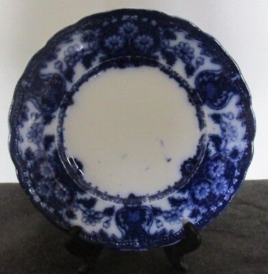 """New Wharf Pottery Seville Pat England Flow Blue 9"""" Lunch Plate (10 Avail)"""