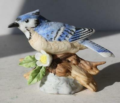 Blue Jay Bird Lefton Figure Ceramic-Porcelain Hand Painted Made in Japan 06070