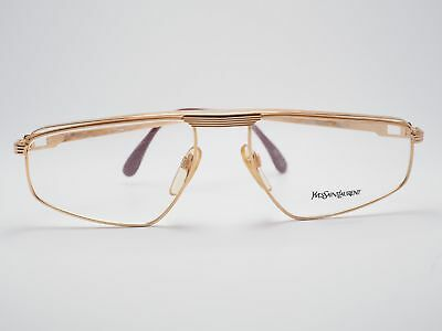 YVES SAINT LAURENT ASTERIUS Brille Gestell - Gold - Vintage