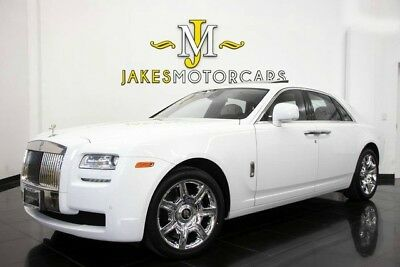 Rolls-Royce Ghost  2011 Rolls-Royce Ghost, WHITE ON WHITE,  25K MILES, BLACK PIANO WOOD, PRISTINE!