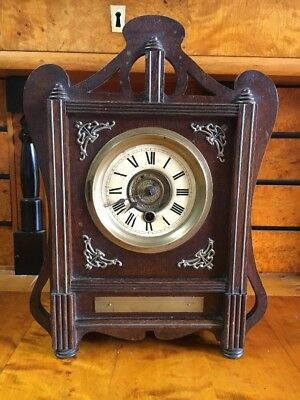Antique Arts And Crafts Liberty Style Mantle Clock
