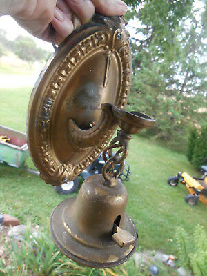 Antique/Vintage Decorative Brass Wall Sconce Light Fixture ABC Turn Switch