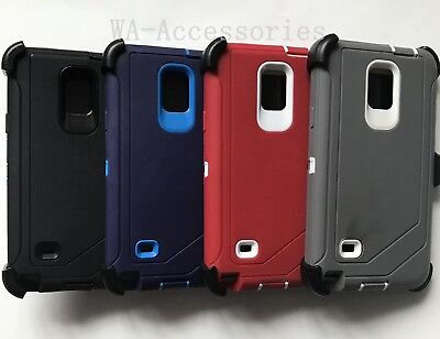 Case For Samsung Galaxy Note 4 With (Clip Fits For OtterBox Defender)w/Screen