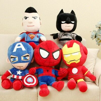 Avengers Iron Man Captain America Superman Batman Spiderman Soft Plush Toys 28cm