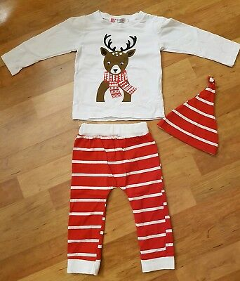 Weihnachts X-Mas  Outfit Baby Gr. 80/86