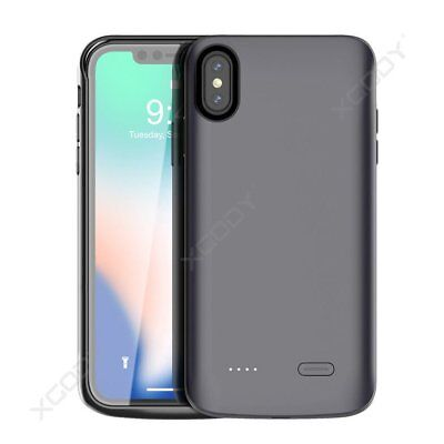 Rechargeable 6000mAh Extended Battery Charging Case Cover for iPhone Xs Max