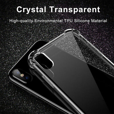 Shockproof Transparent Soft Slim Rubber Gel TPU Phone Case For iPhone XR XS MAX