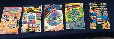 Vintage 4 Superman Comics From The 1980s With Reprint Of 1st Superman Annual