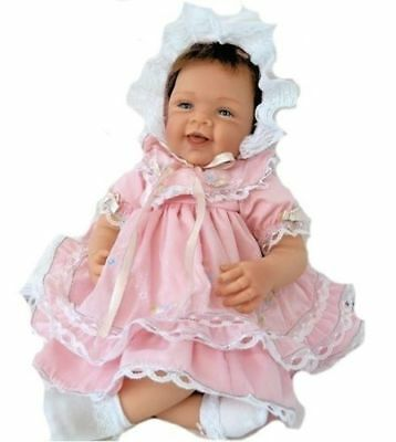Details about  Ashton Drake Pretty In Pink Realistic Baby Doll by Waltraud Hanl