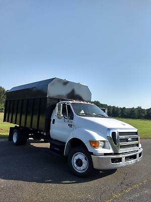 F650 DIESEL 16FT AUTOMATIC CHIPPER DUMP BED BODY TRUCK 42k LOW MILES UNDER CDL
