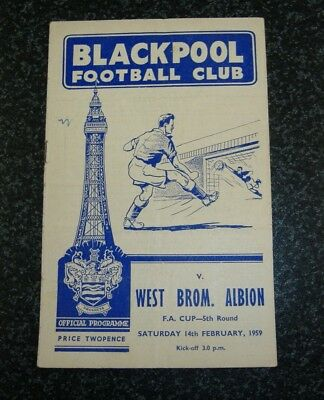 Blackpool v West Brom FA Cup 1958/59
