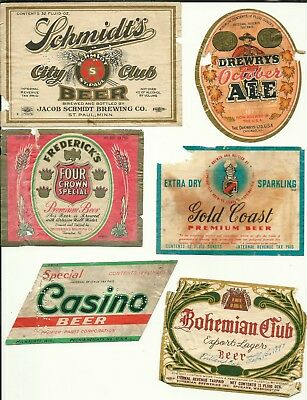 Six Different IRTP Beer Labels -- Lot 3