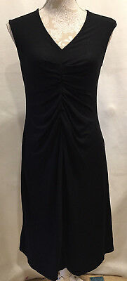 A Pea In The Pod Women's Maternity Ruched Black Dress Sleeveless Size Small