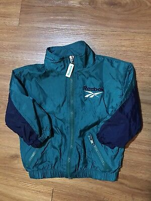 Vintage Reebok Windbreaker Jacket Toddler Size 18 Months Kids Boys Girls 90s