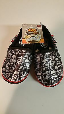 Disney Star Wars Rebels Stormtrooper Black White Red Slippers Toddler Size 9 10