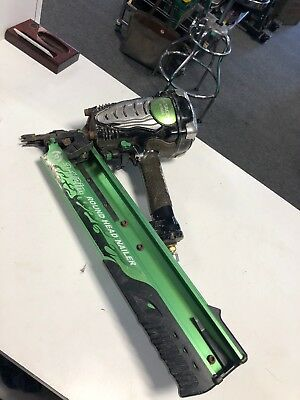 "Hitachi NR90AE 3-1/2"" Pneumatic Strip Nailer Framing Nailer Tested Works Great"